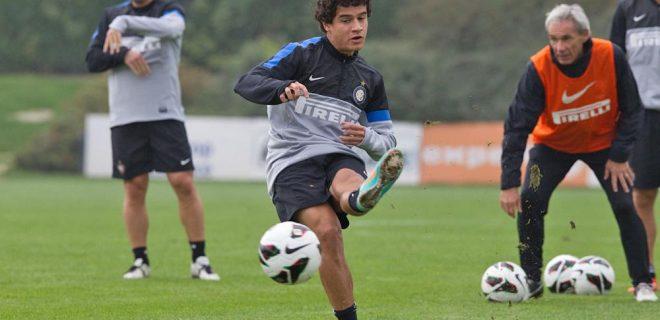 Inter allenamento 12 ottobre 2012 Coutinho (7)
