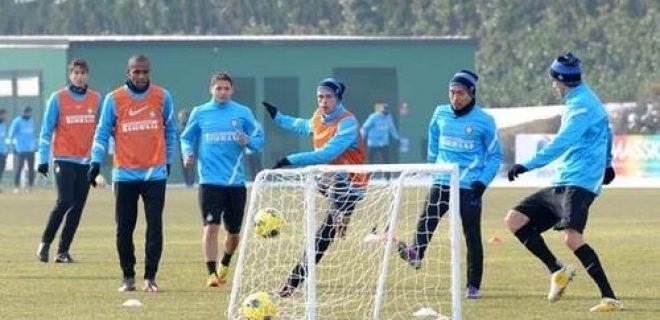 Inter allenamento 13 febbraio 2012