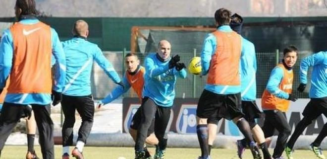 Inter allenamento 15 febbraio 2012