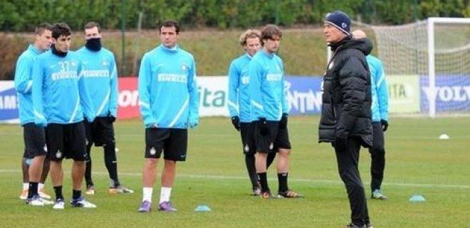 Inter allenamento 16 dicembre 2011