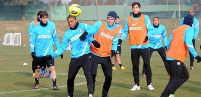 Inter allenamento 17 gennaio 2012