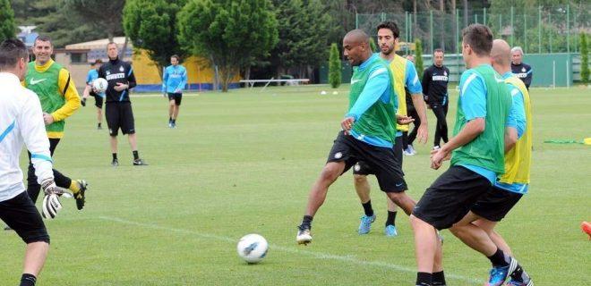Inter allenamento 18 maggio 2012