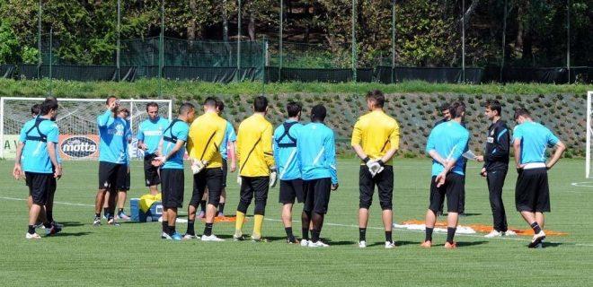 Inter allenamento Appiano 3 maggio 2012