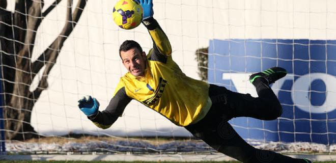 Inter allenamento Capodanno Handanovic