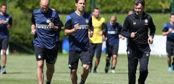 Inter allenamento Hernanes Cambiasso