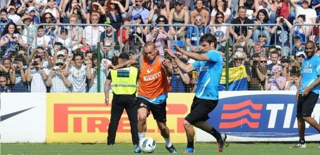 Inter allenamento Sneijder 11 maggio