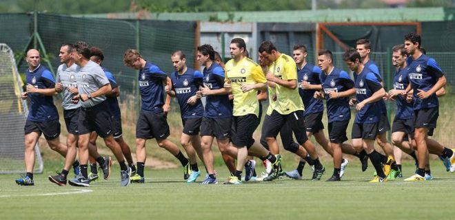 Inter primo allenamento Appiano 2013-14