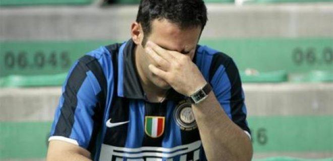 Inter tifoso deluso