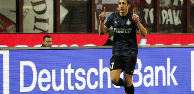 Ishak Belfodil esultanza gol Inter-Trapani