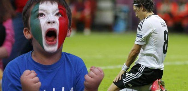 Italia-Germania esultanza Euro 2012