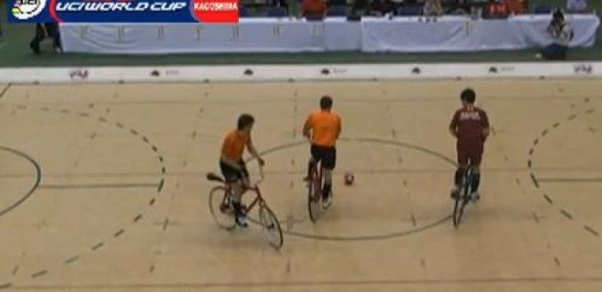 Japan calcio in bicicletta
