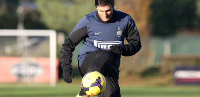 Javier Zanetti allenamento