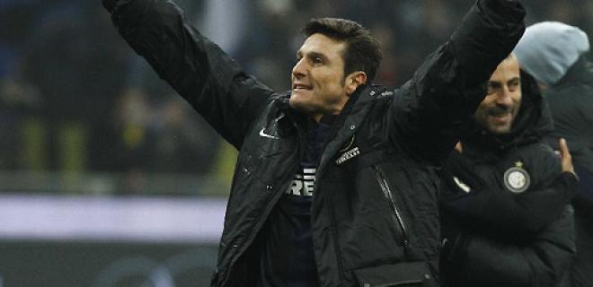 Javier Zanetti derby esultanza