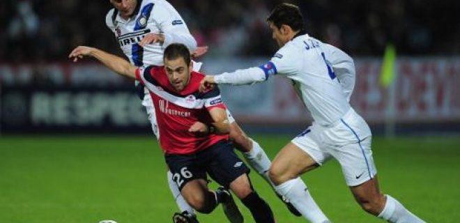 Lille-Inter 0-1 azione