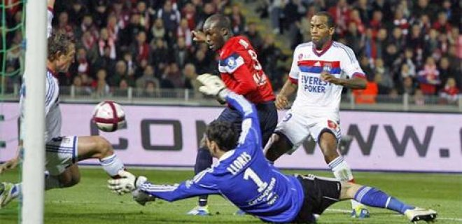 Lille-Lione 3-1 gol Sow