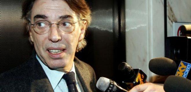 Massimo Moratti con cronisti