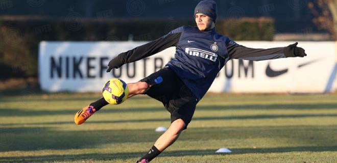 Mauro Icardi Inter allenamento