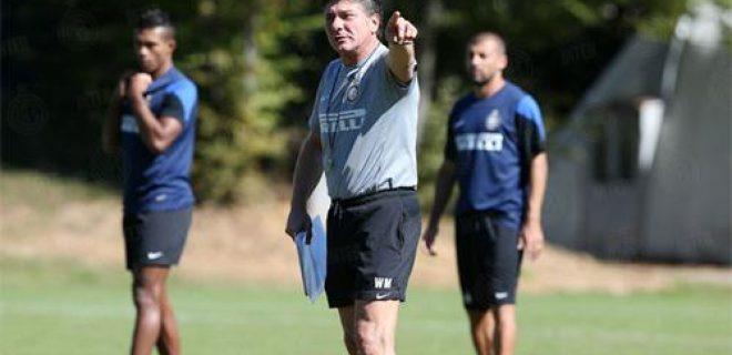 Mazzarri allenamento Inter