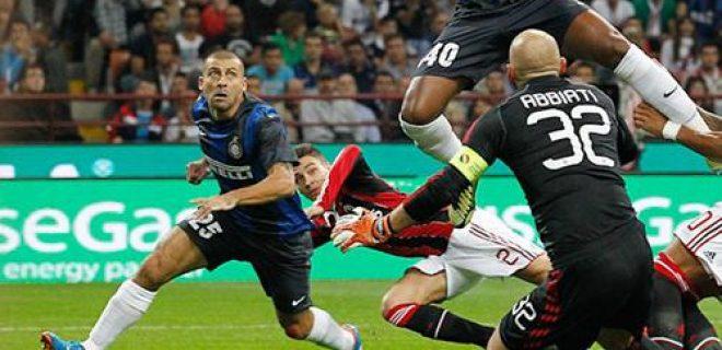 Milan-Inter 0-1 Samuel gol