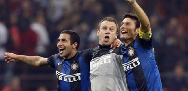Milan-Inter Gargano Cassano Zanetti