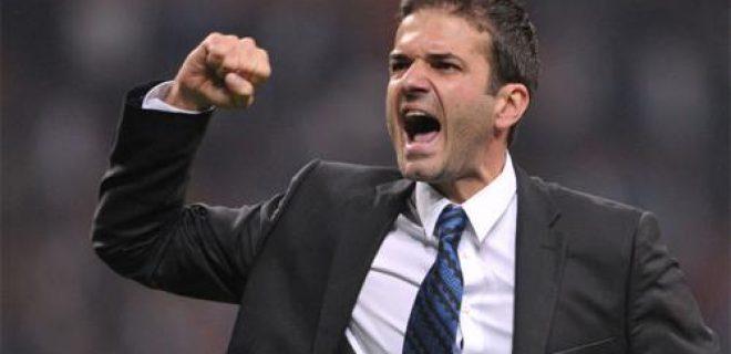 Milan-Inter Stramaccioni esultanza