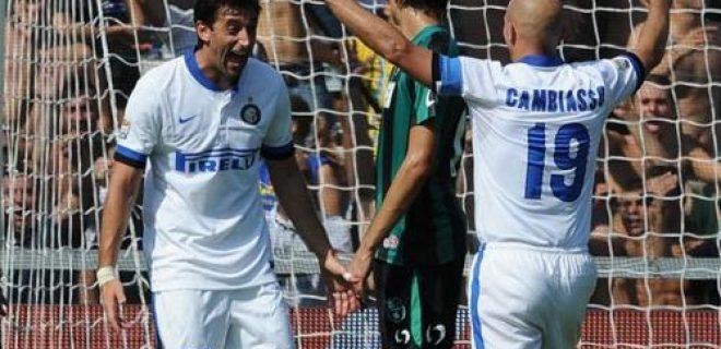 Milito Cambiasso Sassuolo-Inter