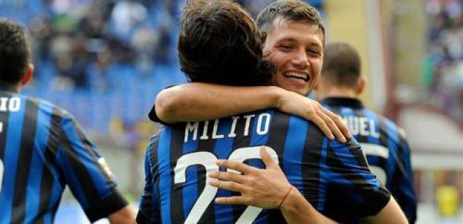 Milito Zarate Inter-Genoa 5-4