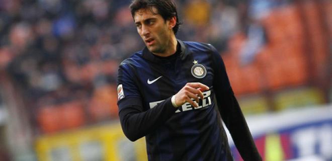 Milito delusione Inter-Cagliari