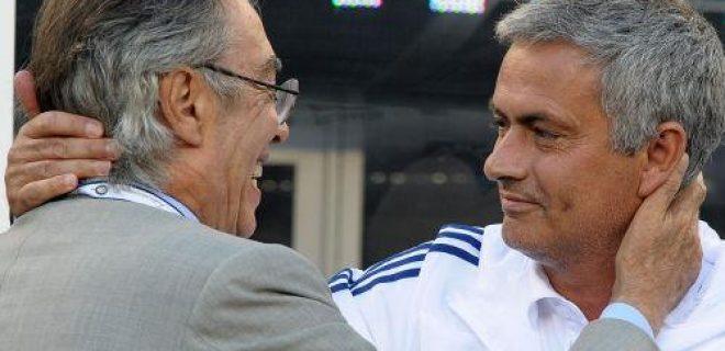Moratti Mourinho abbraccio Usa 05