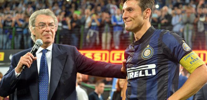 Moratti addio Zanetti Inter-Lazio festa