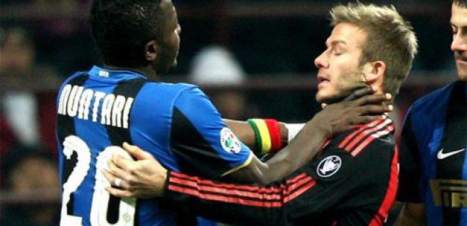 Muntari strozza Beckham