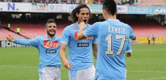 Napoli Insigne Cavani Hamsik