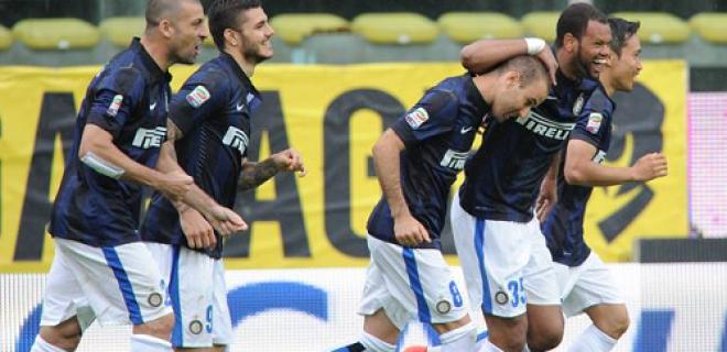 Parma-Inter esultanza