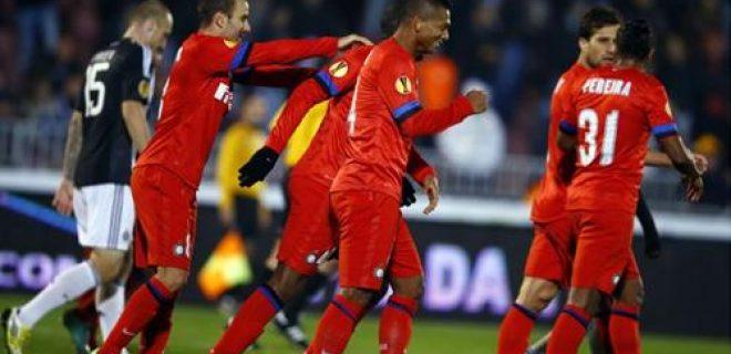 Partizan-Inter esultanza squadra