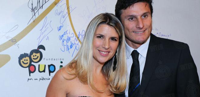 Paula e Javier Zanetti Fundacion Pupi