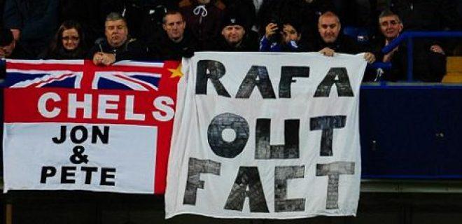 Rafa Benitez contestazione Stamford Bridge