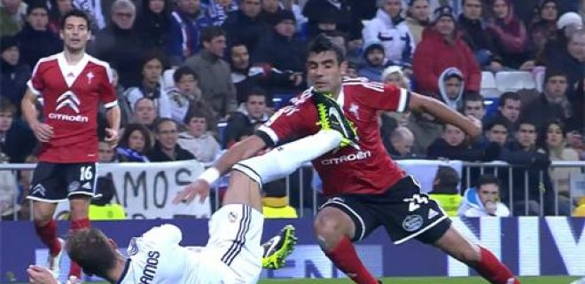 Real-Celta red card