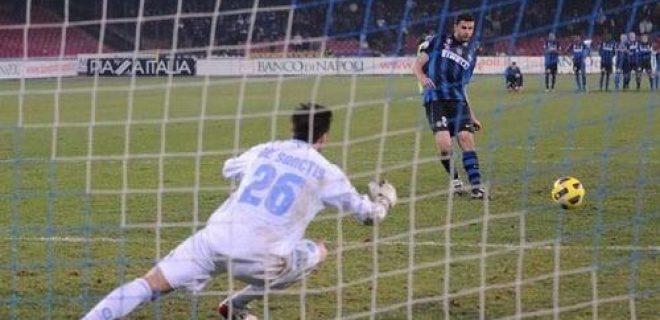 Rigori Napoli-Inter coppa Italia