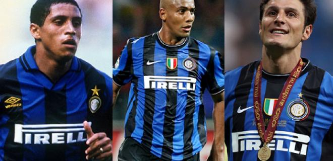 Roberto Carlos, Douglas Maicon, Javier Zanetti