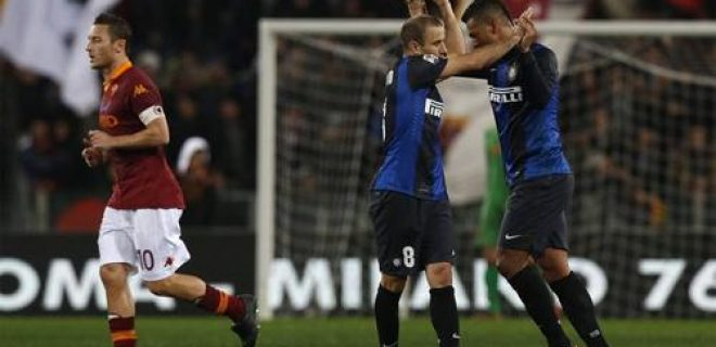 Roma-Inter 1-1 Palacio Guarin Totti