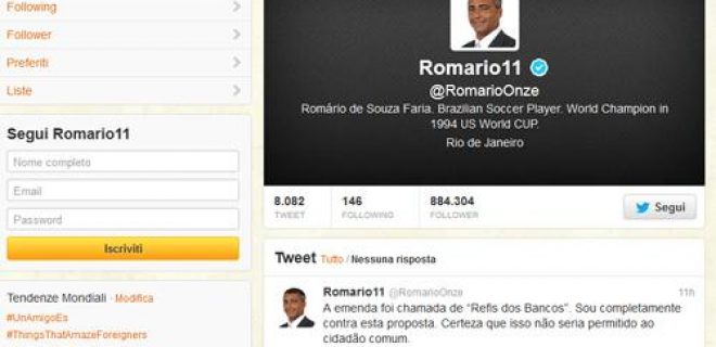 Romario Twitter