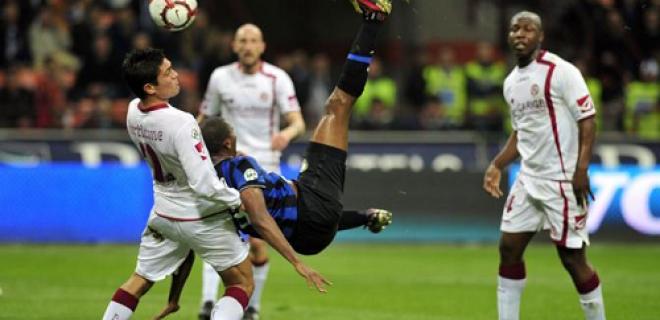 Rovesciata Samuel Eto'o Inter-Livorno