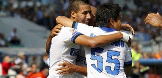 Sassuolo-Inter esultanza Taider Nagatomo