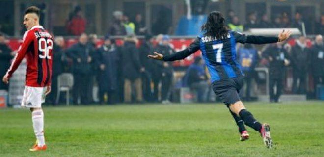Schelotto esultanza derby Inter-Milan 1-1