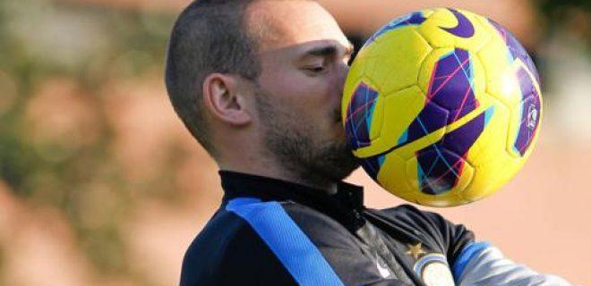 Sneijder Inter allenamento