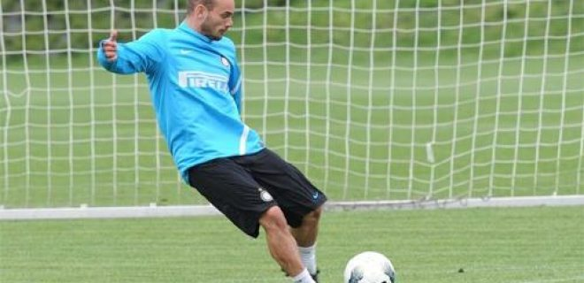 Sneijder allenamento