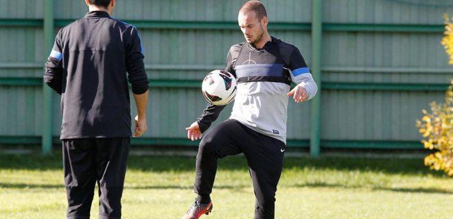 Sneijder allenamento ripresa Pinetina