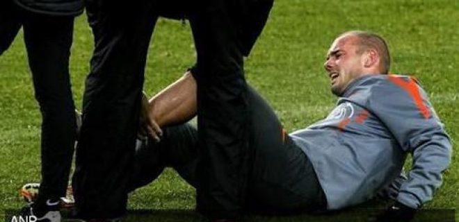 Sneijder infortunio polpaccio Olanda