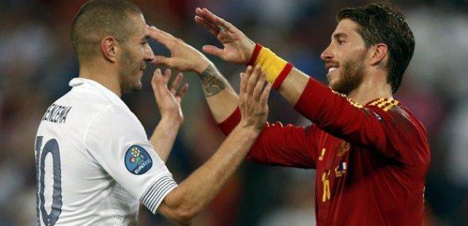 Spagna-Francia Benzema Ramos