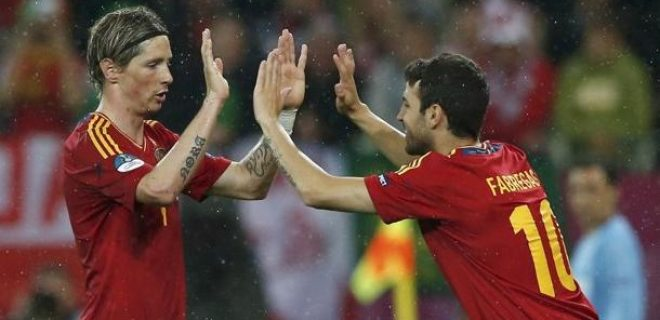 Spagna-Irlanda 4-0 foto